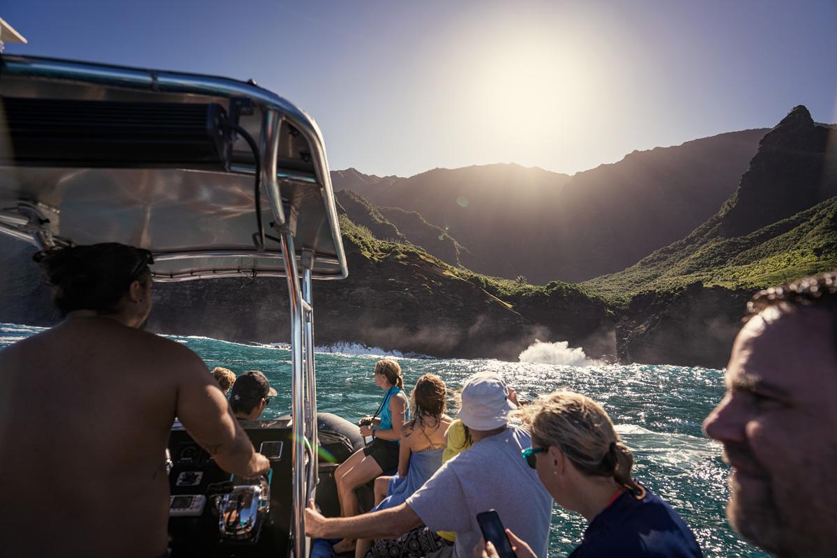 Zodiac Tour Napali Coast Kauai Insel Hawaii