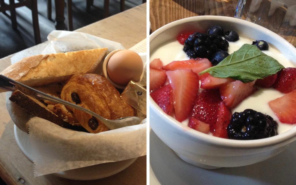 Essen in New York bei Le Pain Quotidien. Paradies zum frühstücken.