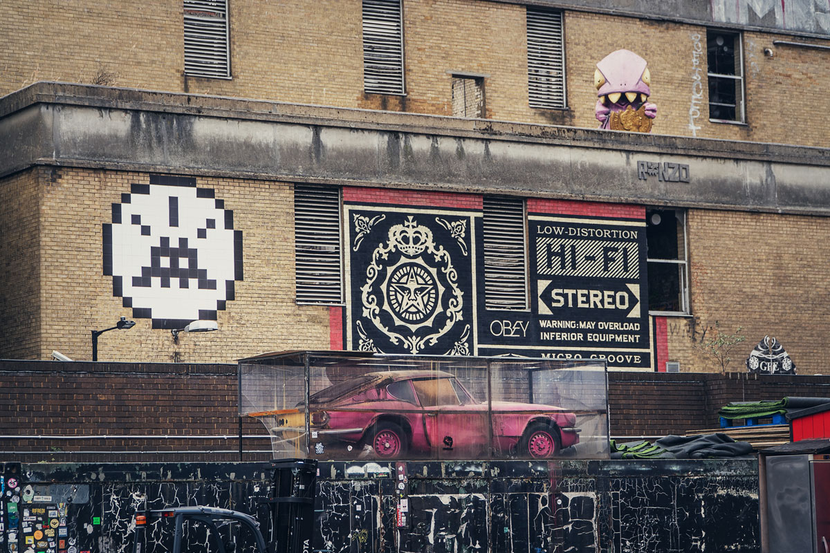 Banksy Shepard Fairey London Street Art