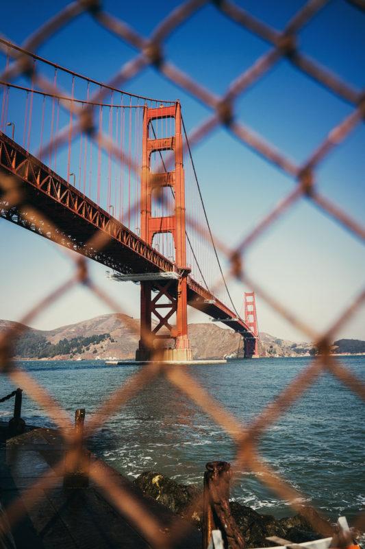 Golden Gate Bridge Aussichtspunkt Fort Point