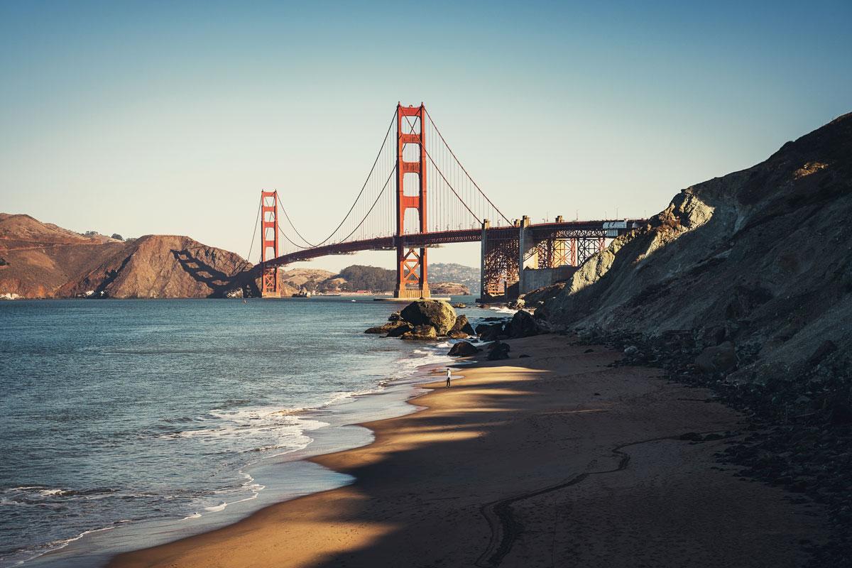 Golden Gate Bridge Aussichtspunkt: Marshall's Beach
