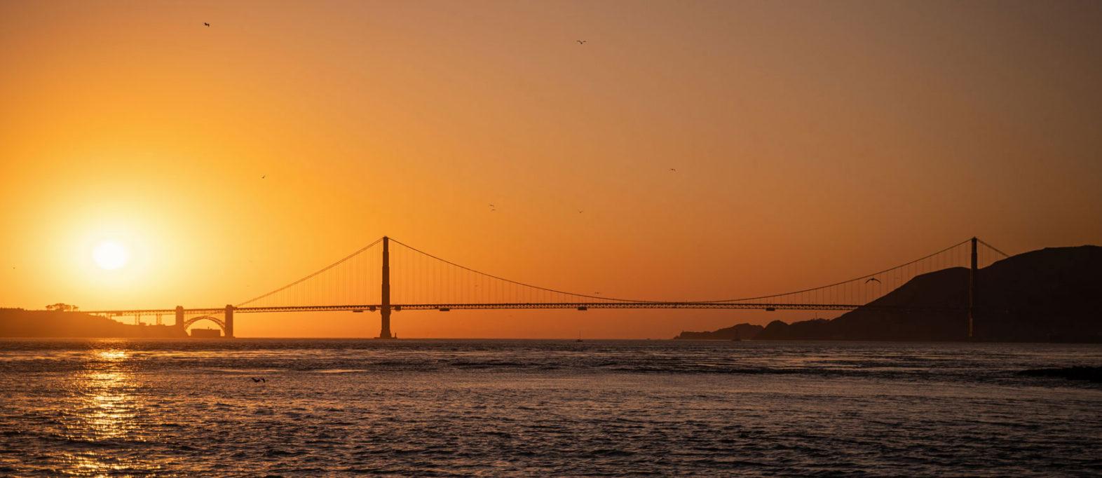 Golden Gate Bridge Aussicht in San Francisco