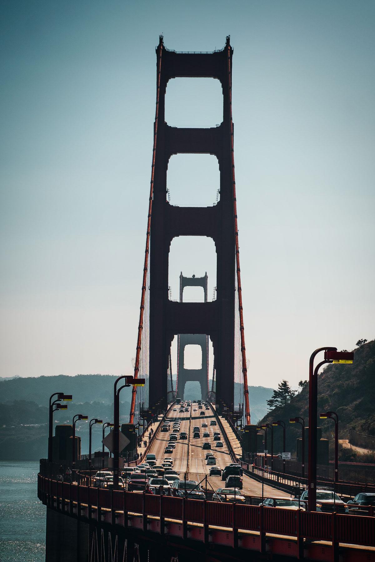 Beim Vista Point Golden Gate Aussichtspunkt