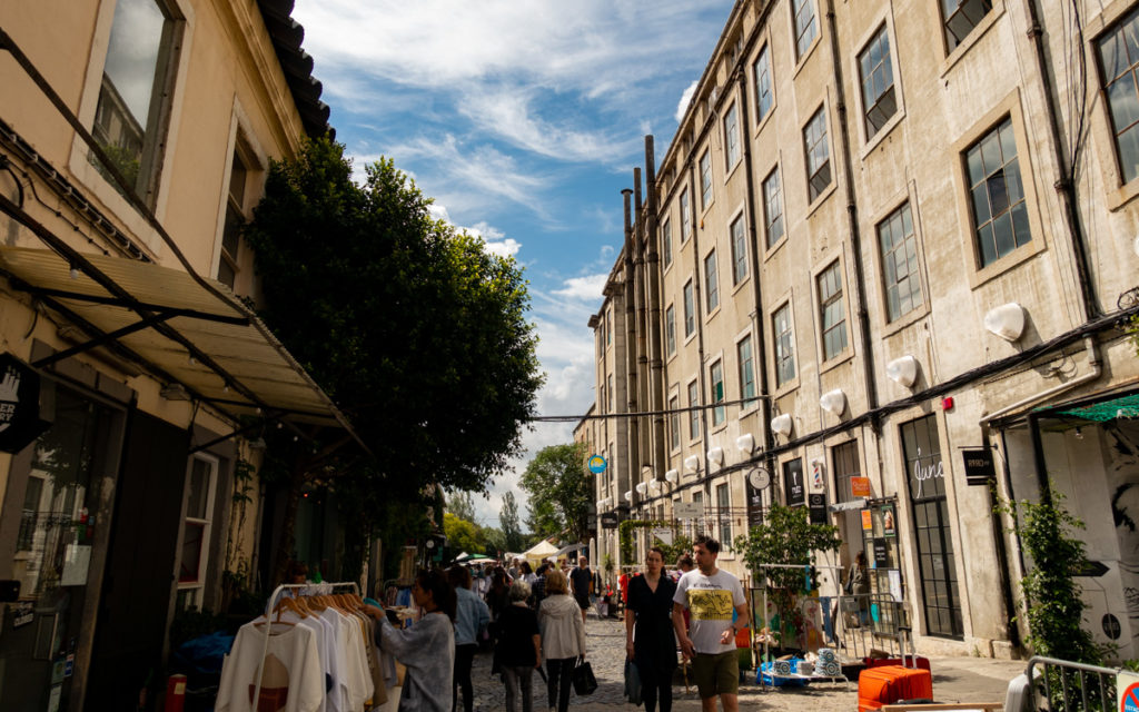 Straße LX Factory Lissabon