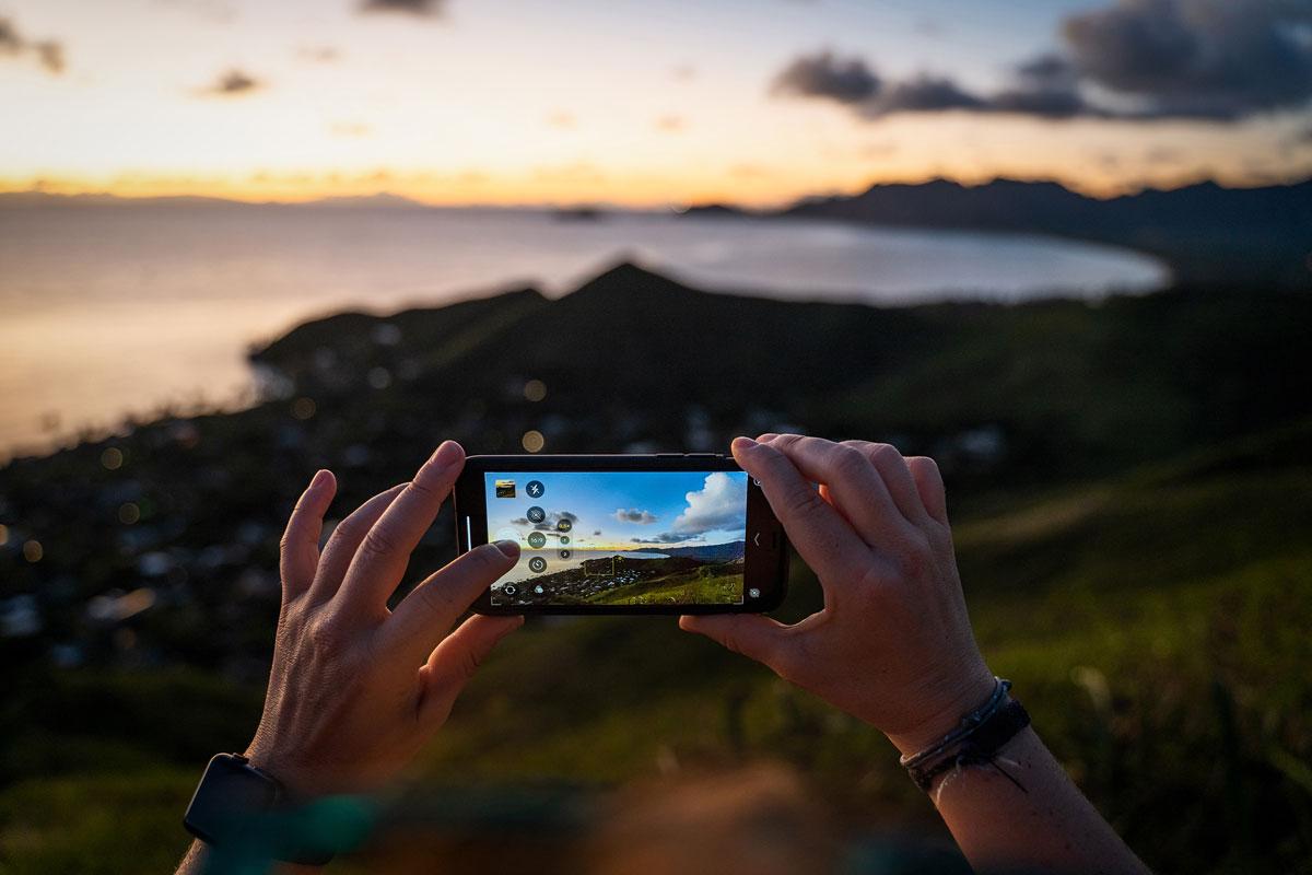 Die Ultraweitwinkel-Kamera am iPhone 11 Pro erlaubt mir, Landschaften ideal zu fotografieren.