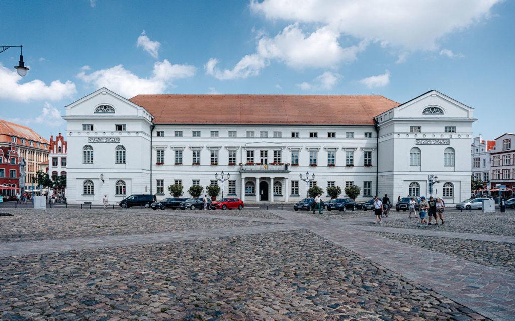Rathaus Wismar auf Marktplatz