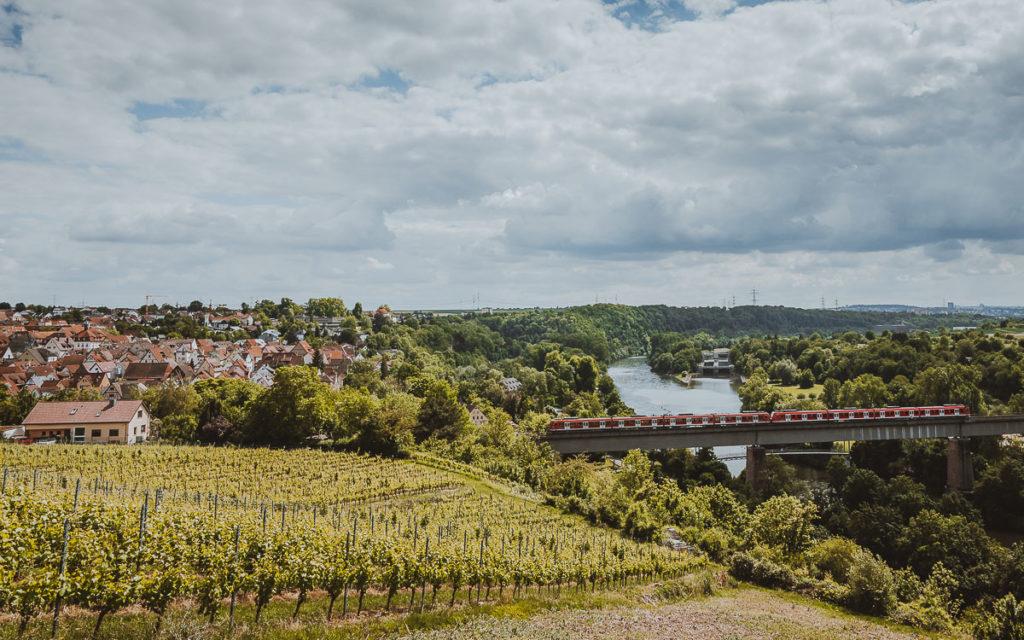 Panoramablick Marbach am Neckar