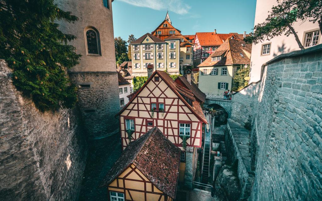 Ausblick von Meersburg auf Altstadt