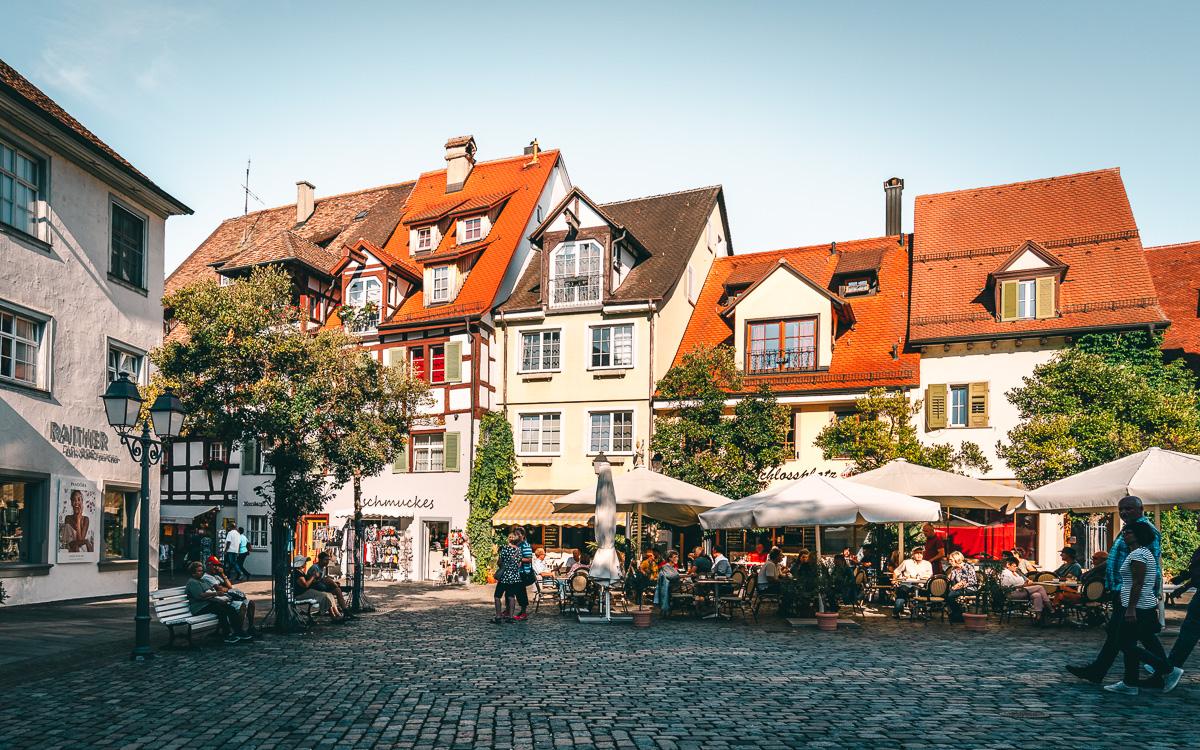 Schlossplatz Meersburg Bodensee