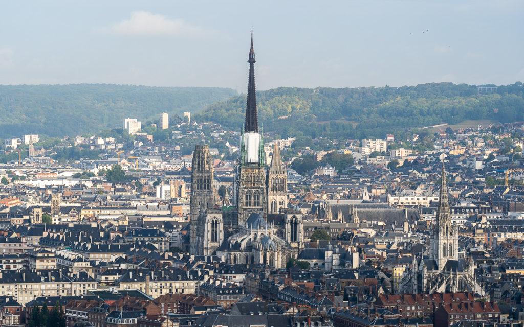 Kathedrale Rouen vom Aussichtspunkt