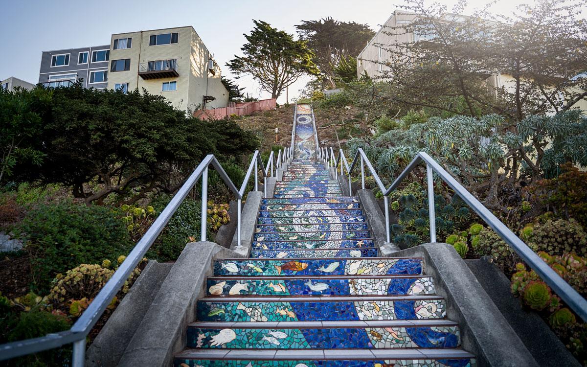 Mosaiktreppen 16th Avenue Tiled Steps San Francisco