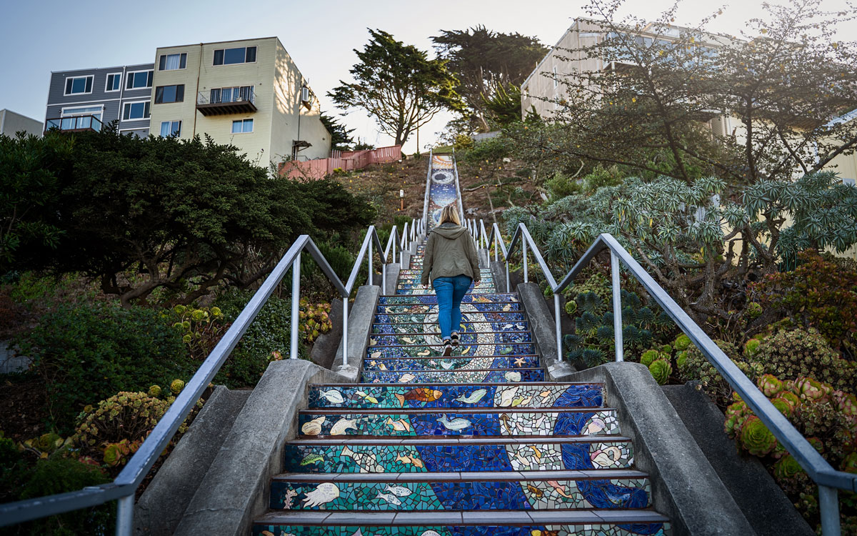 16th Avenue Tiled Steps Tilted Stairs