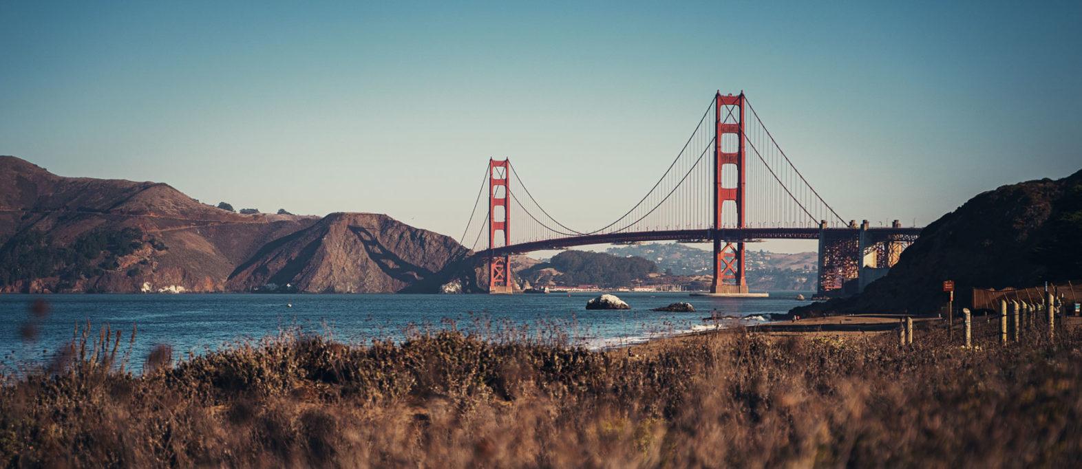 San Francisco Sehenswürdigkeiten Golden Gate Bridge Aussicht