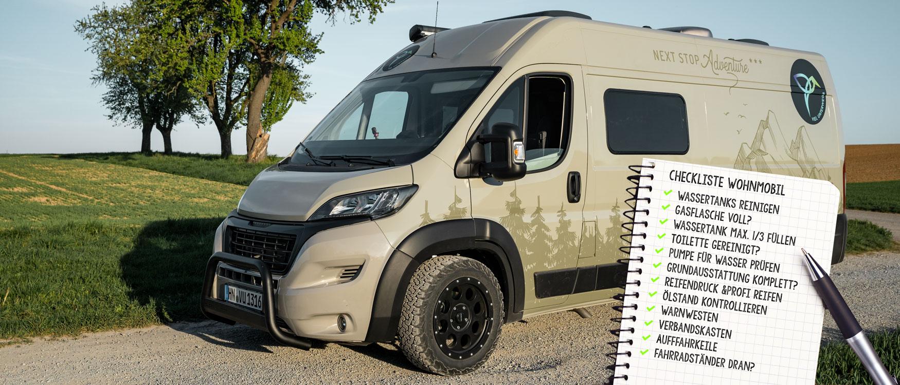 Camping Packliste fürs Wohnmobil: So packst du in Rekordzeit