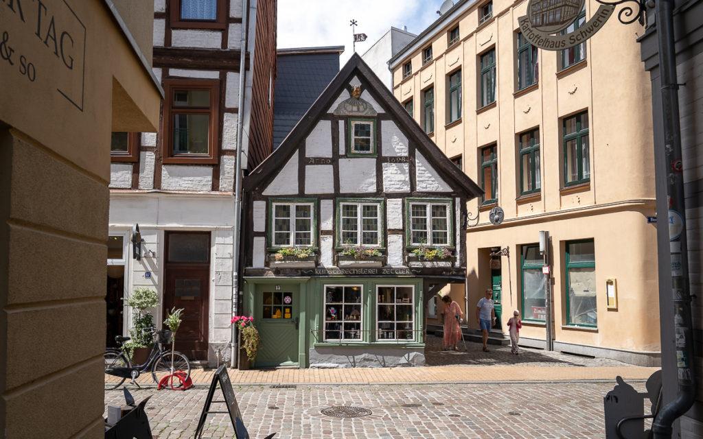 Das älteste Fachwerkhaus in Schwerin