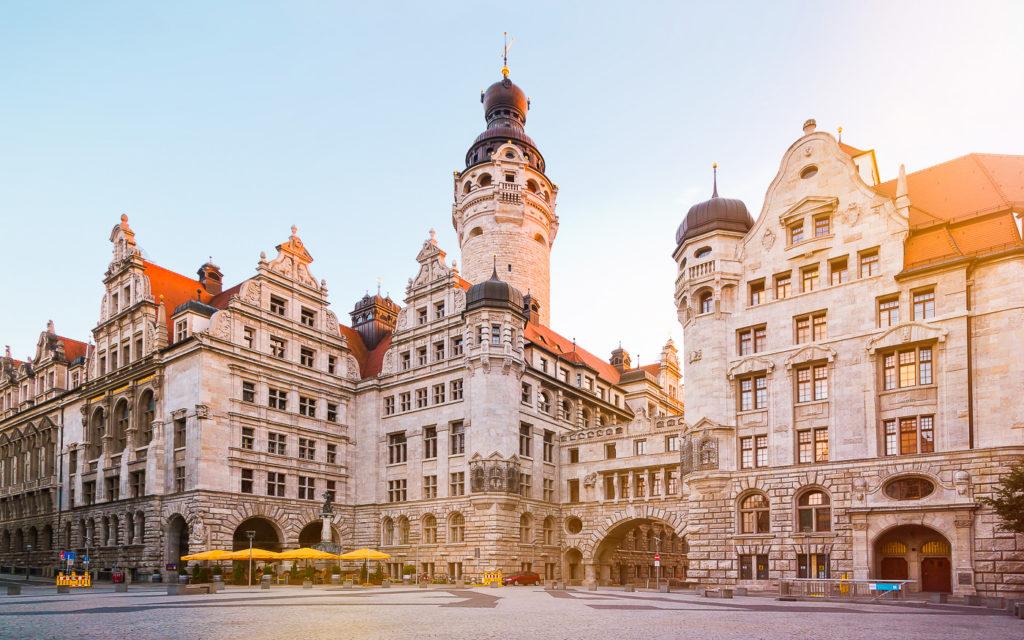 Neues Rathaus Burgplatz Leipzig