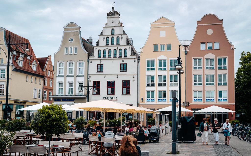 Giebelhäuser am Neuen Markt Rostock