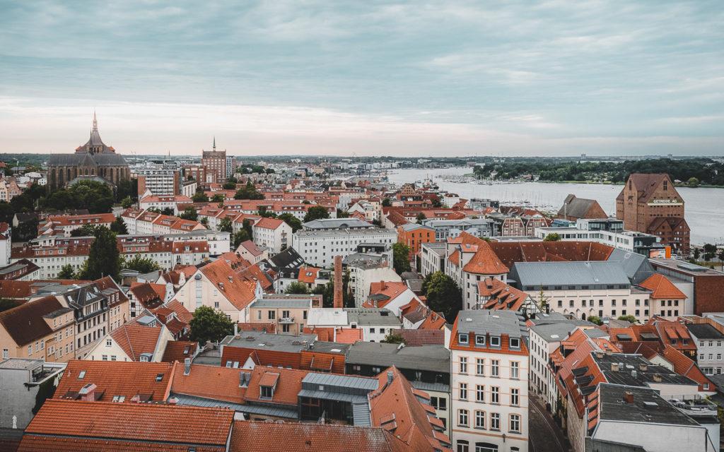 Aussicht von der Petrikirche in Rostock