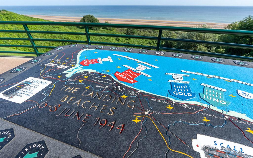 Omaha Beach amerikanischer Soldatenfriedhof