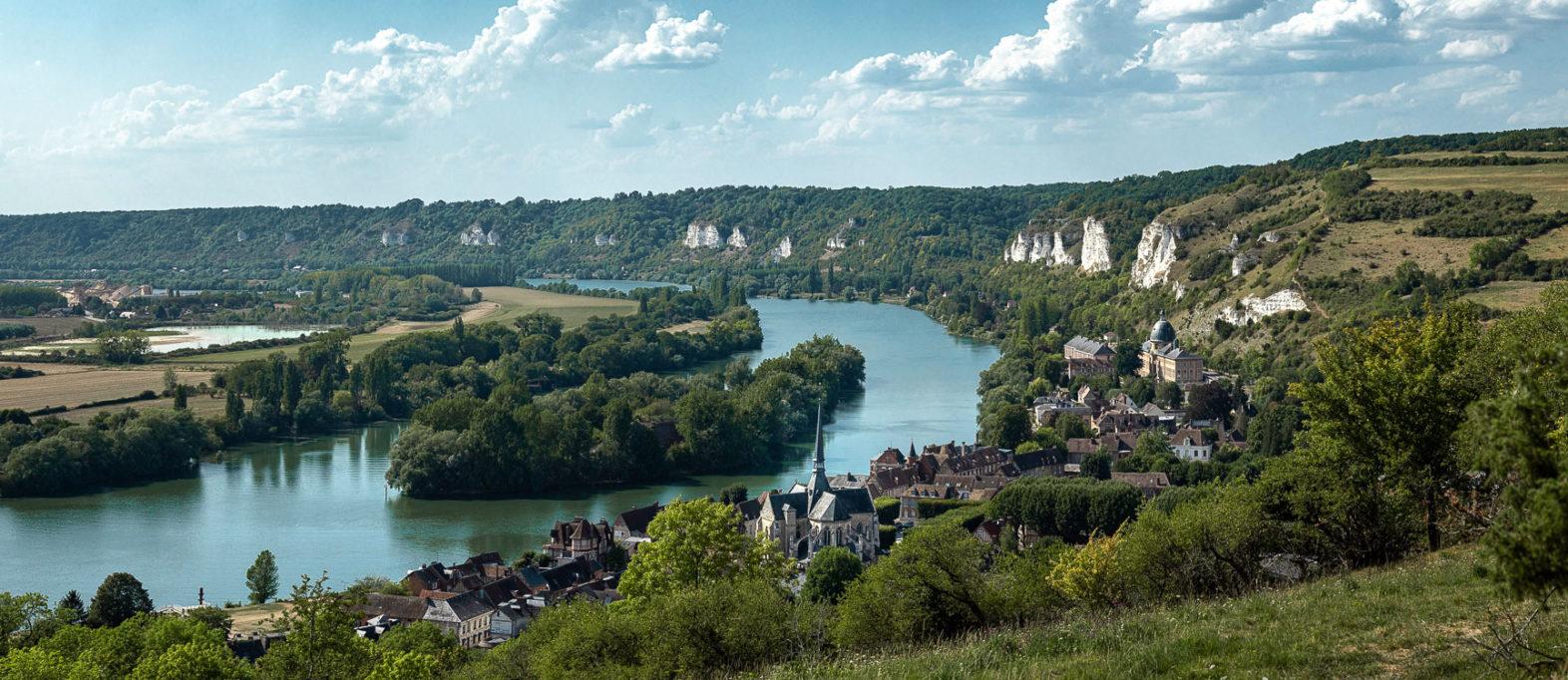 Ausblick Les Andelys und Seine vom Chateau-Gaillard