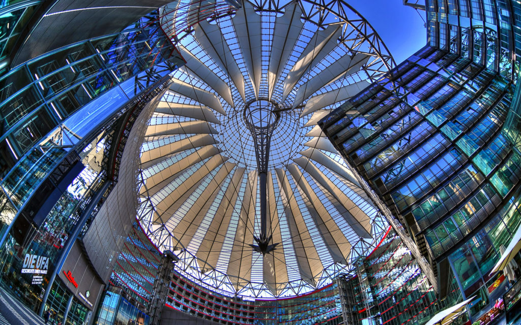 Dach Sony Center Potsdamer Platz Berlin
