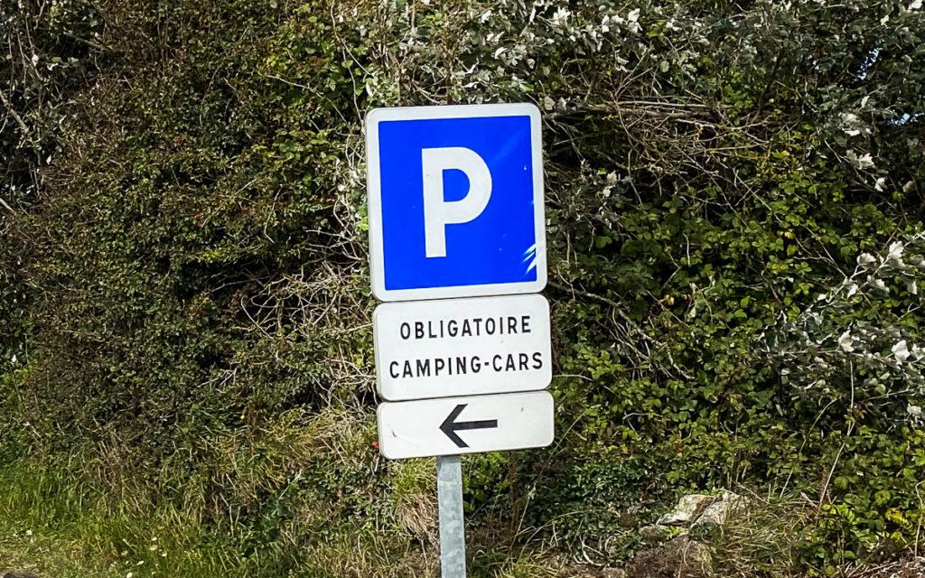 Parkplatz Wohnmobil Schild Frankreich