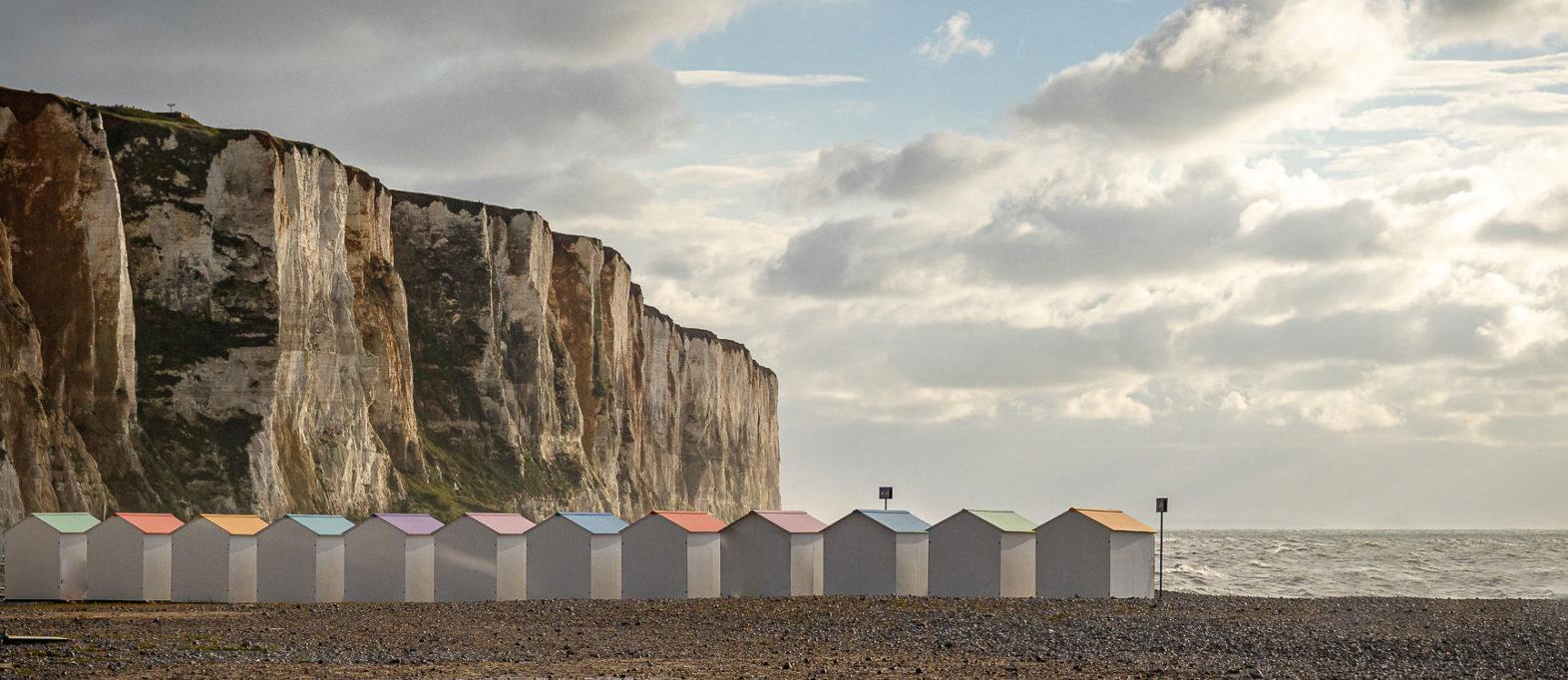 Normandie Sehenswürdigkeiten Le Tréport Steilküste Strand