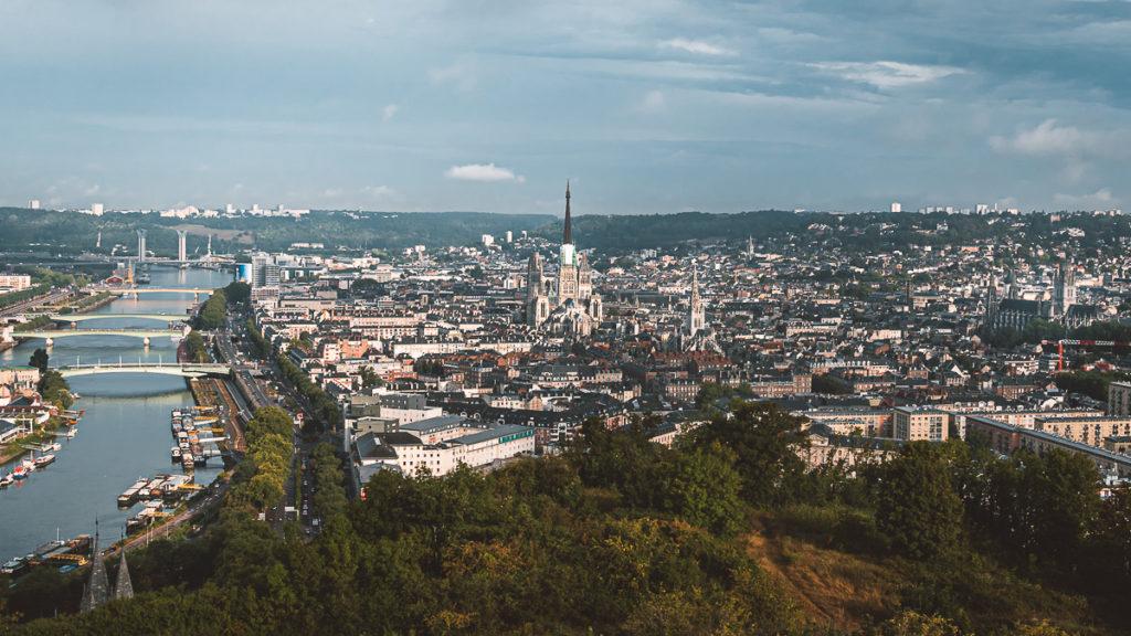 Panorama auf Rouen