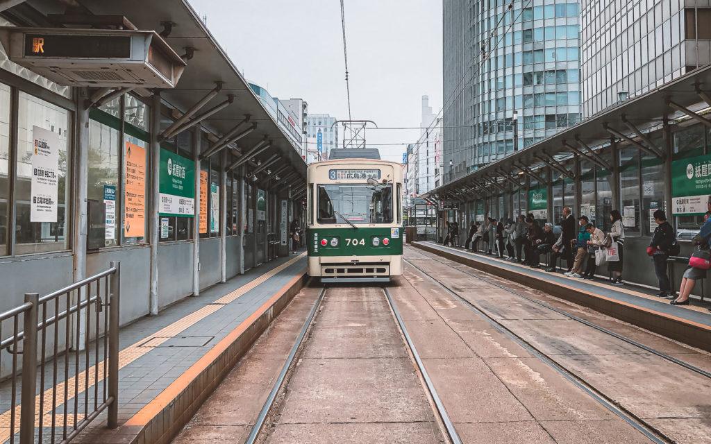 Straßenbahn in Hiroshima fahren