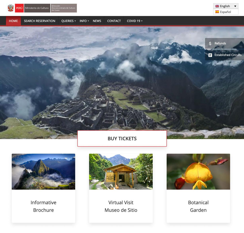 Machu Picchu Ticket kaufen online