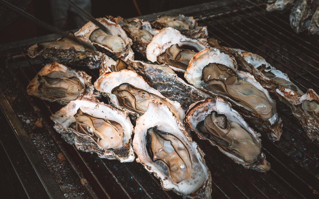 Austern gegrillt Miyajima