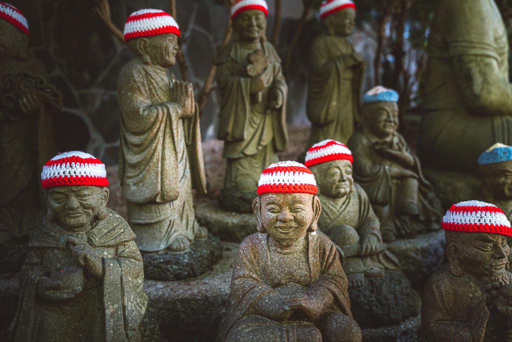 Buddhas mit Mütze Miyajima