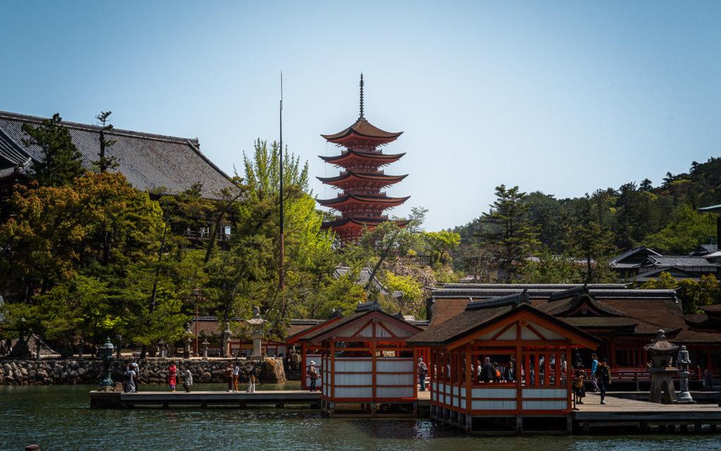 Fünfstöckige Pagode Miyajima Japan