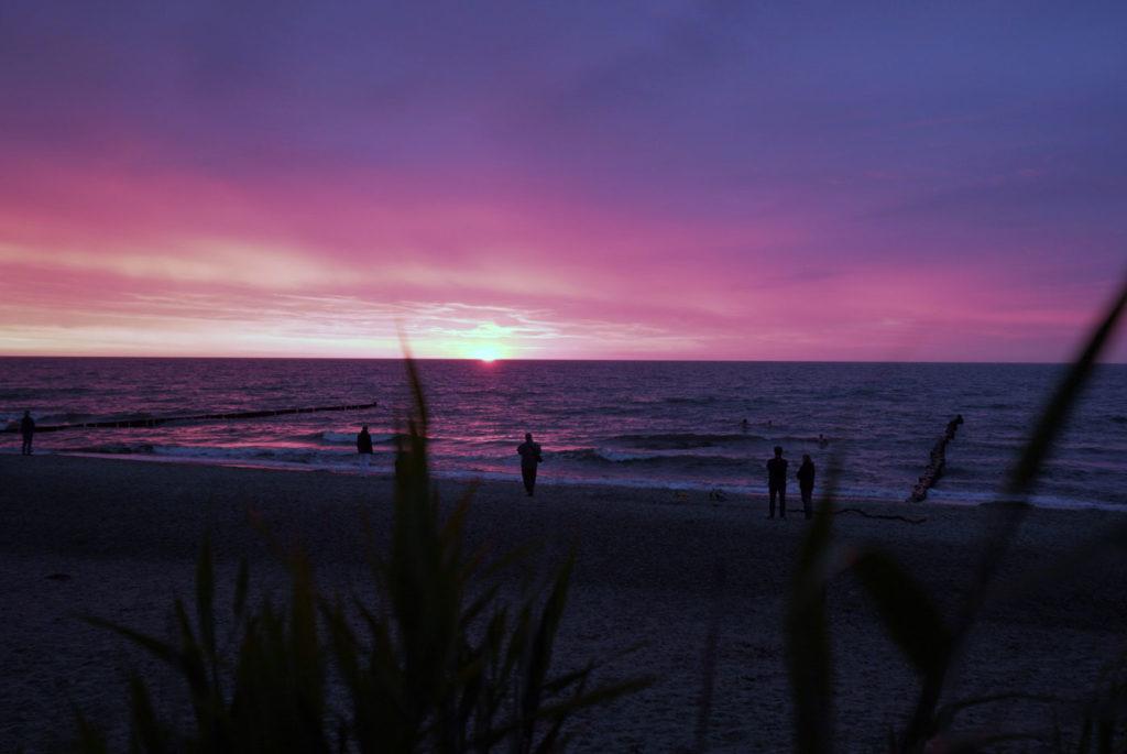 Börgerende Ostsee Strand Sonnenuntergang