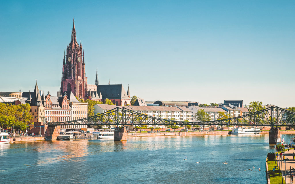 Eiserner Steg Kaiserdom Frankfurt am Main