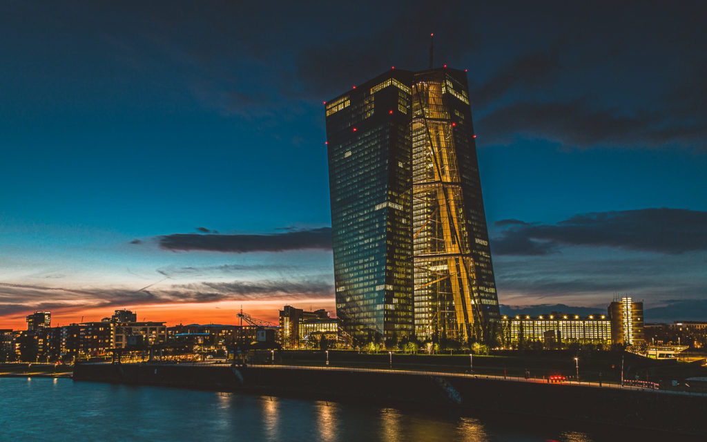 Frankfurt Sehenswürdigkeit: EZB Europäische Zentralbank Foto