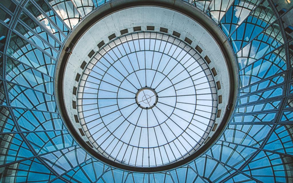 Dach der Kunsthalle Schirn in Frankfurt