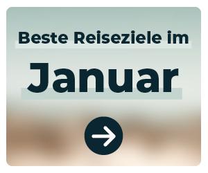 Die schönsten Reiseziele im Januar