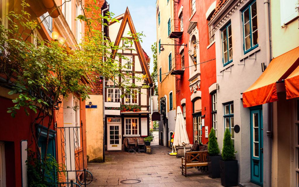 Historisches Schnoorviertel in Bremen