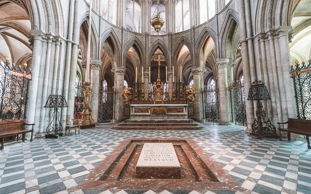 Grab Wilhelm der Eroberer Caen Saint-Étienne
