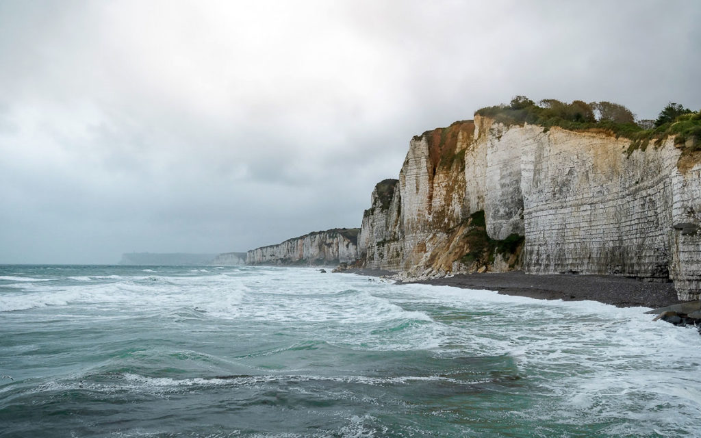 Yport Kreideküste Normandie Frankreich