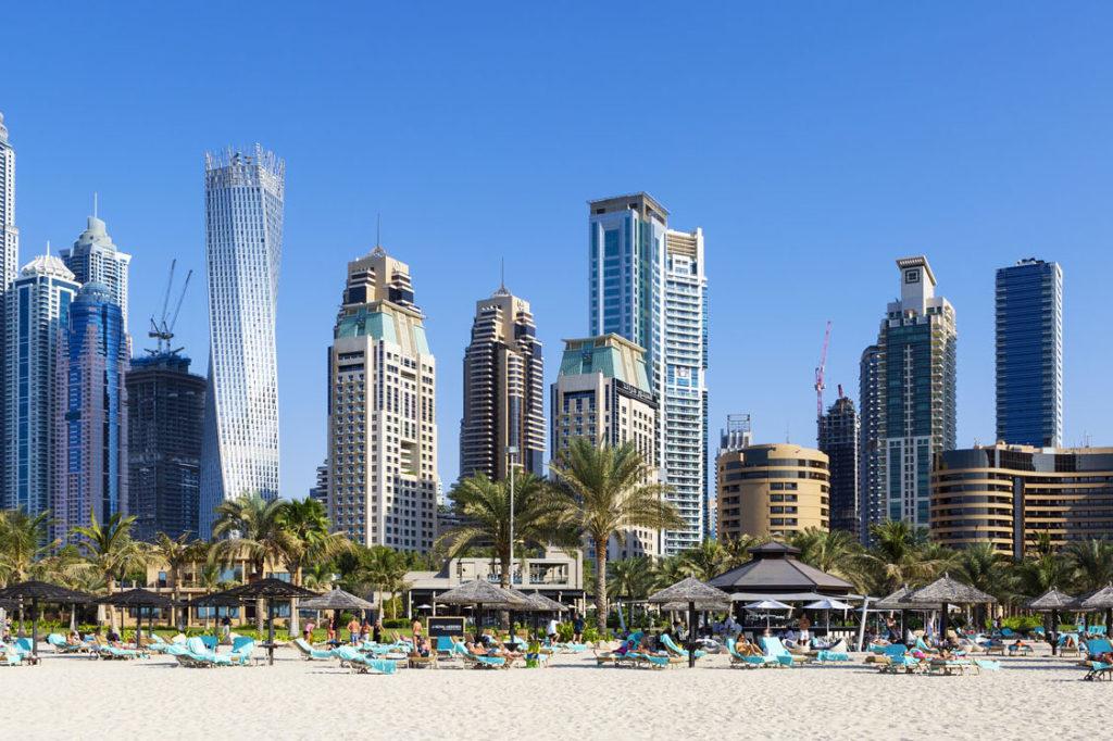 Dubai Skyline Jumeirah Beach |Adobe Stock ID 4470507