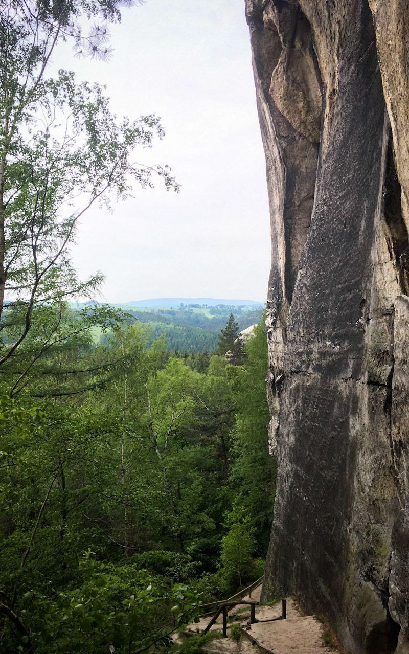 Kletterwand in der Sächsischen Schweiz