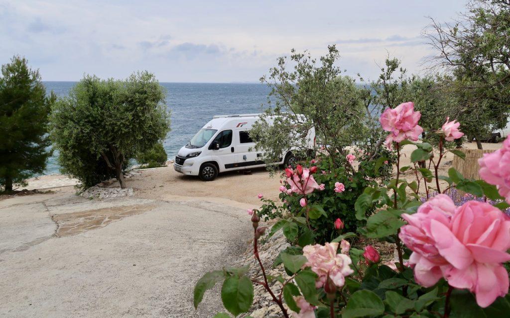 Campingplatz am Meer in Sibenik