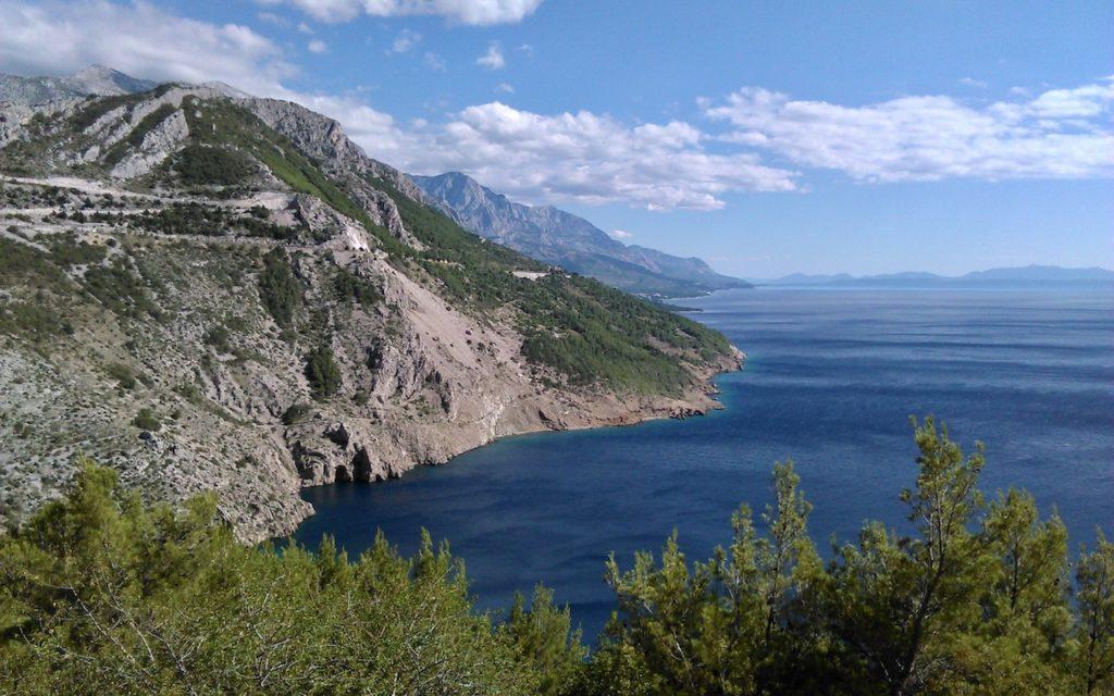 Küstenstraße entlang der Adria (Kroatien)