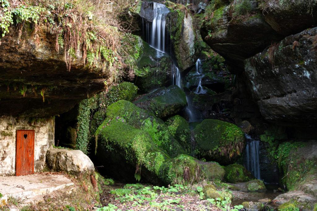 Lichtenhainer Wasserfall im Kirnitzschtal (Sächsische Schweiz)