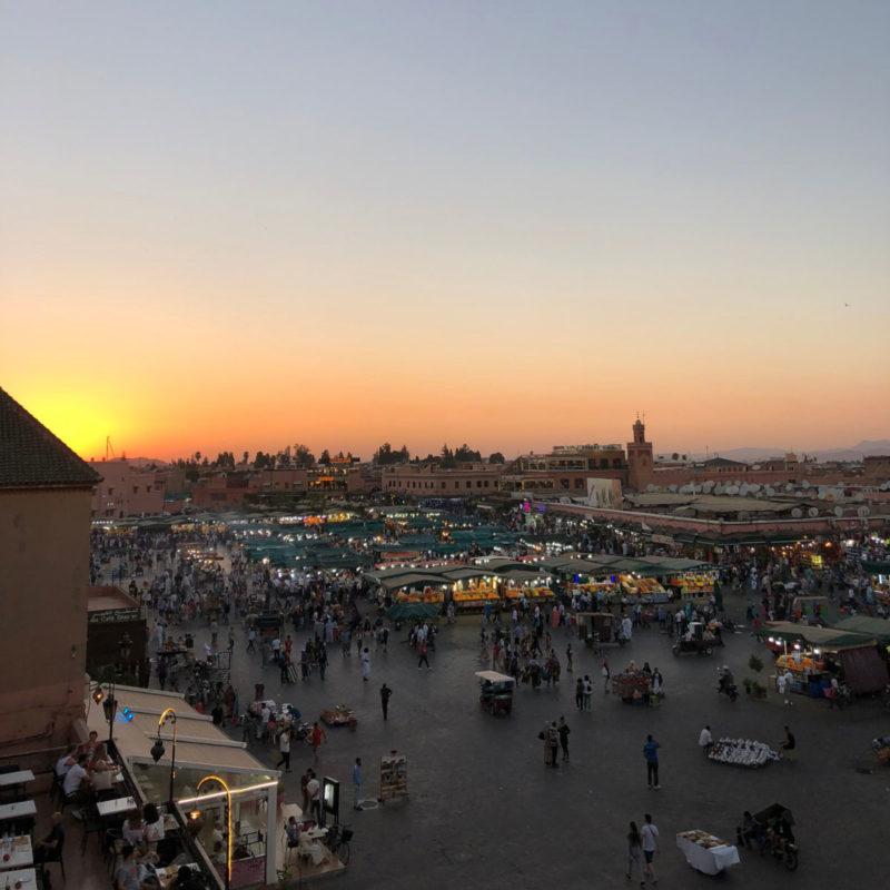 Jemaa-El-Fna Marrakesch in Marokko