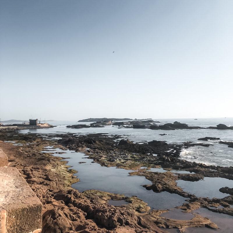 Spaziergang auf Stadtmauer in Essaouria