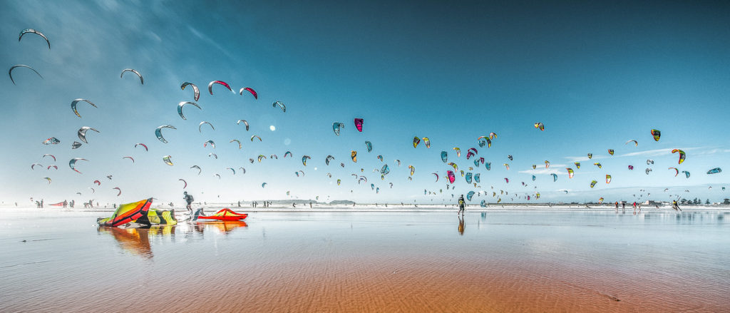 Essaouira Marokko Highlights Kitesurfer