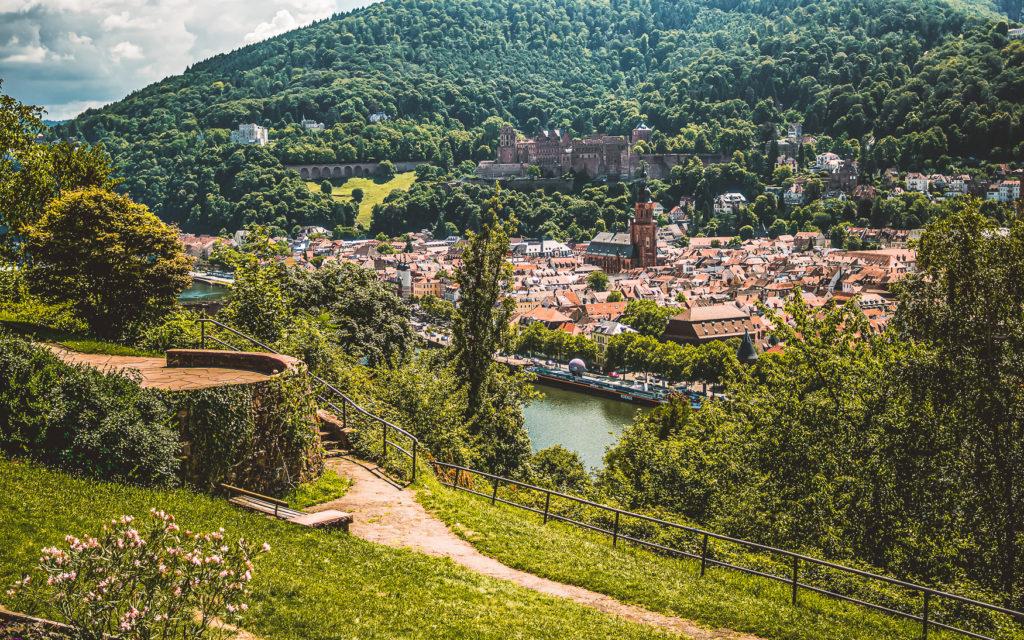 Aussicht vom Philosophenweg in Heidelberg